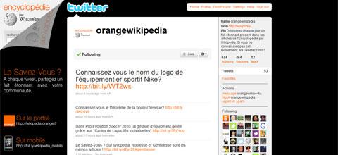 Orange Wikipedia Twitter